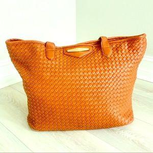 Handbags - 👜 Large, Cognac Tote Bag
